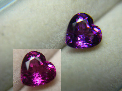 rare Grape Garnet color change gem HEART Pastel Pyrope Purple Magenta Tanzania