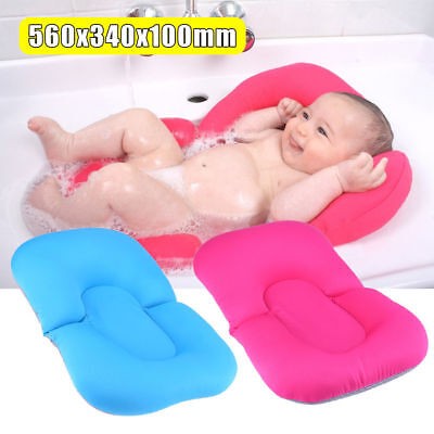 Baby Bath Tub Foldable Infant Bed Pad Chair Safety Shower Newborn Seat Mat Pads