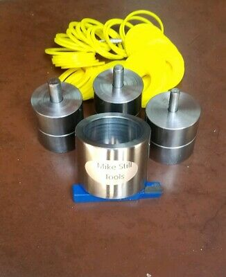 """Cylinder Type Coin Ring Center Punch 1/4"""" & 5/16"""" & 3/8"""" Hole, 41 Plastic Spacer"""