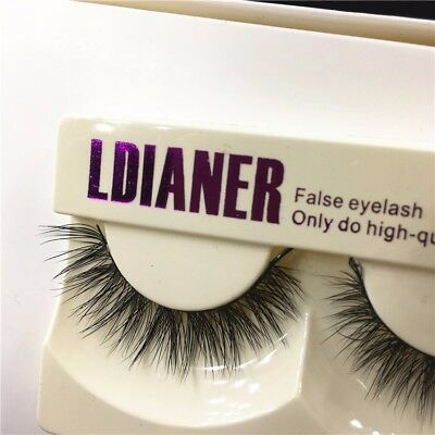 Luxury 3D Mink False Lashes Wispy Fluffy Strip Eyelashes Long Natural Party HQ