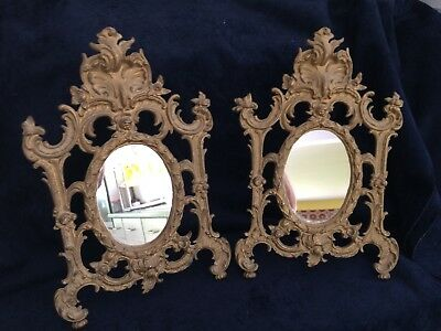 guilded free standing mirrors/picture frames