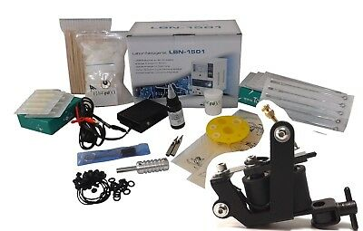INKgrafiX® TATTOO SET 10Wrap Maschine IG-28f Tattoomaschine KOMPLETTSET - ULM D