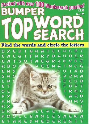 3 Bumper Word Search Magazines Most With 100+ Puzzles Solutions In Back (Set 61)