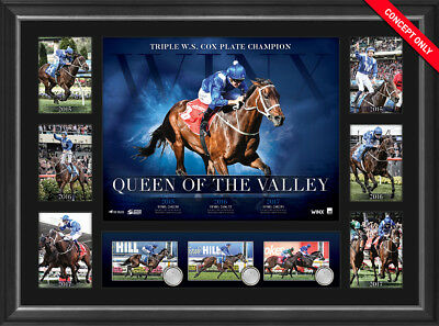 2017 Winx Triple Cox Plate Champion Official Print Framed Horse Racing Bowman