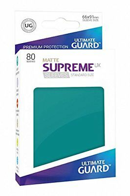 Ultimate Guard UGD010555 Supreme Ux Sleeves Standard Size Matte Petrol Blue (80)