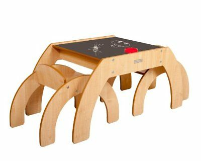 Little Helper Funstation Duo Chalky Toddler Table with Blackboard Desk Top and
