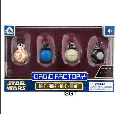 Star Wars Disney Droid Factory The Last Jedi 4-Pack BB-8 2BB-2 BB-4 BB-9E PARK