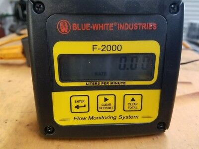Blue White F-2000 RT 11-110 or 3-30 L/min rate/total paddle wheel flow meter