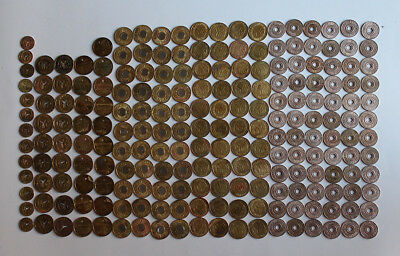 New York Subway Transit Tokens - Lot Of 210 Pieces