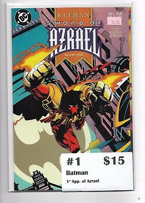 Batman: Sword of Azrael #1 (Oct 1992, DC)key issue 1st app