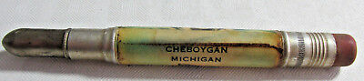 Vintage CHEBOYGAN MICHIGAN Fish Souvenir Bullet Pencil, Trout or Salmon Fish