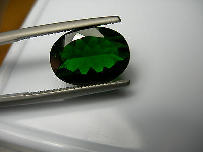 rare 5.24ct GREEN Chrome Diopside Russia gem Russian gemstone UNTREATED LARGE ov