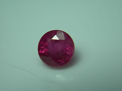 rare gemmy Red Ruby Madagascar gem Gemstone Natural FLUORESCENT 0.57ct round