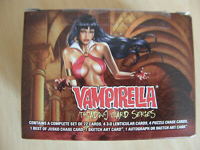 Vampirella  Trading  Cards  - Supplied  In  Sas  Steel  Card  Protection  Tin