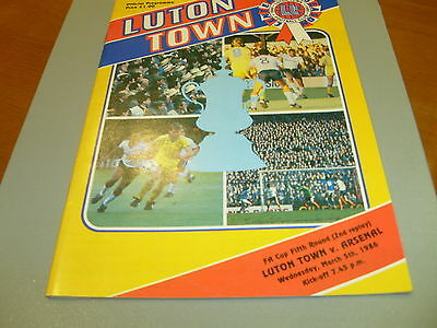 Luton v Arsenal 85/86 FA Cup 2nd Replay