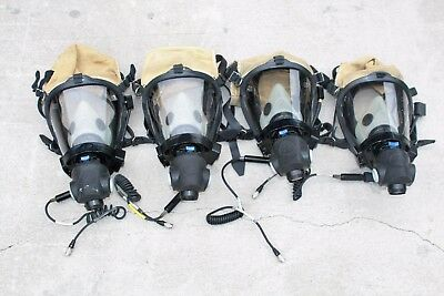One  Suvivair Sperian Scba Firefighter Respiratory Mask M/l With  Rcs Connector