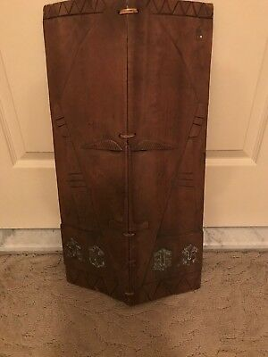 Rare Antique African Wooden Tribal Shield