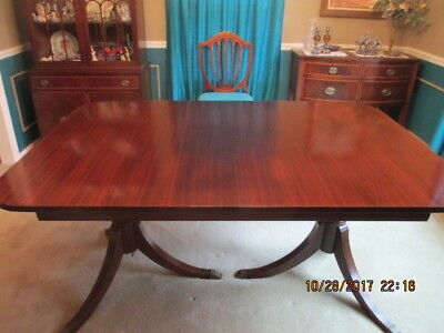 Mahogany Dining Room Table, China, Buffet & Sideboard Duncan Phyfe Style.   Prob