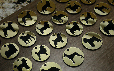 Trophy Gold Pet Dog Tag ID Name Personalised Engraved Cat Tags Collar Gift