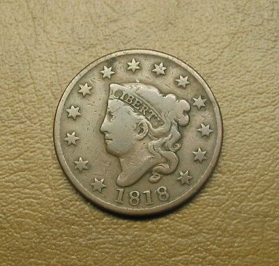 1818 Coronet Head Us Large Cent