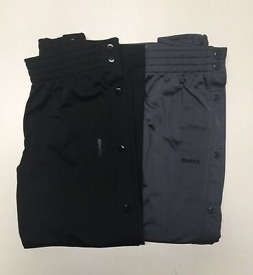 Reebok Boys Basketball Athletic Training Pants Elastic Waist & Side Snaps NWT .