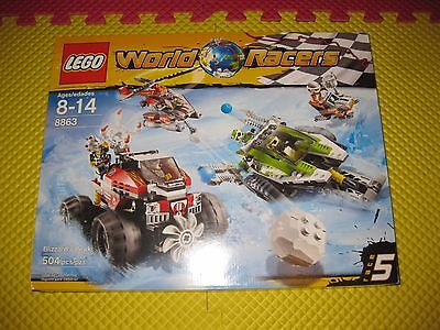 2 Lego World Racers Sets Blizzard's Peak 8863 & 8897 Jagged Jaws SEE ...