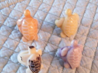 TAGUA  TURTLE RINGS ORGANIC NATURAL IVORY  (4) SMALL SIZES 4-5  MADE in  ECUADOR