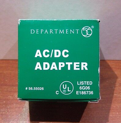 Dept 56 AC/DC White Adapter #55026 BOX SHOWS SOME WEAR & TAPED IN 3 PLACES
