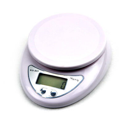 Digital Kitchen Scale 1g-5kg Diet Food Compact Scale 0.1 - 176 oz Brand New