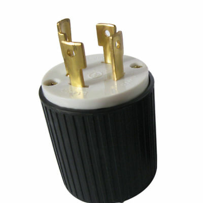 L14-30P Locking Male Plug - 30Amp, 250Volt -UL Approved Industrial Plugs Adapter