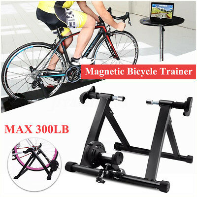 Indoor Magnetic Bike Bicycle Turbo Trainer Stand Handlebar Exercise Training AU