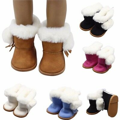 "Handmade Fashion Plush Winter Boots Shoes para 18 ""American girl doll regalos"