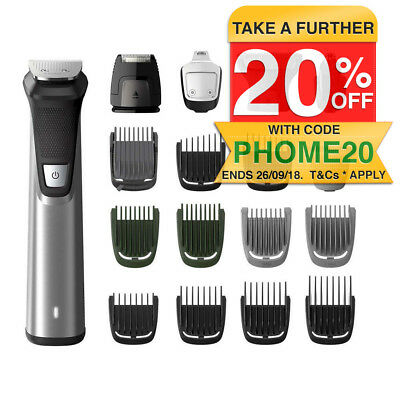 Philips MG7770 18in1 Cordless Wet/Dry Multigroomer/Face/Hair/Body Shaver/Trimmer