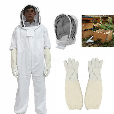 Beekeeping Suit Bee Suit Full Body With Leather Ventilated Keeping Gloves AU XL