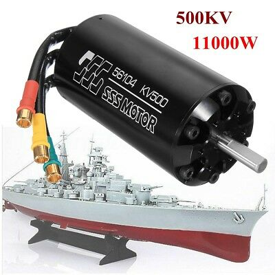 SSS 56104/500KV Brushless Motor 6 Poles W/O Water Cooling For RC Marine Boats