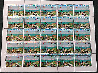 Rwanda 1980, 50c Paintings, Monet MNH Complete Full Sheet #V4131