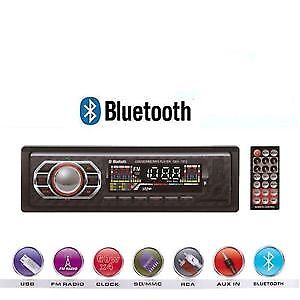 Stereo Auto Bluetooth Autoradio Vivavoce Radio Fm Mp3 Usb Aux Sd Card 60W X 4