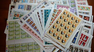 70 Different Complete Full Sheets 100's Of Stamps