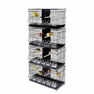 Kookaburra Cages Pear - Double Wire Breeding Cage for Finch Canary Budgie Etc X4