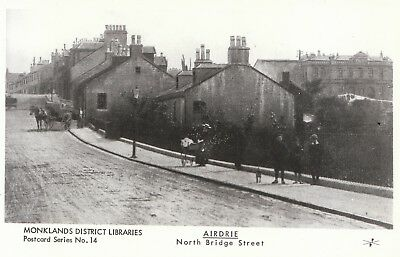 Scotland Postcard - Airdrie - North Bridge Street - Ref 2296