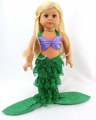 """Little Mermaid Costume for 18"""" American Girl Doll Clothes The Lovvbugg Low Price"""