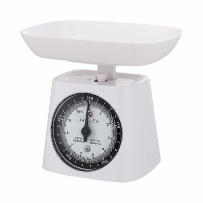 5Kg Hanson Mechanical Kitchen Weighing Measuring Scales White