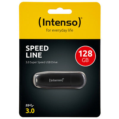 kQ Intenso Speed Line 128 GB USB Stick USB 3.0 SUPERSPEED schwarz