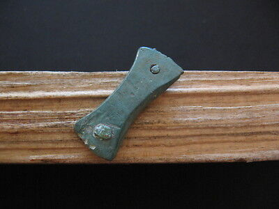 Double Axe Votive Amulet Ancient Celtic Bronze Warriors Talisman 500-200 B.c.