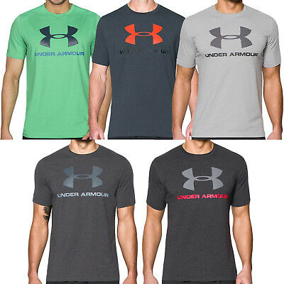 Under Armour Mens Sportstyle Logo Charged Cotton Gym Training T Shirt Tee Top