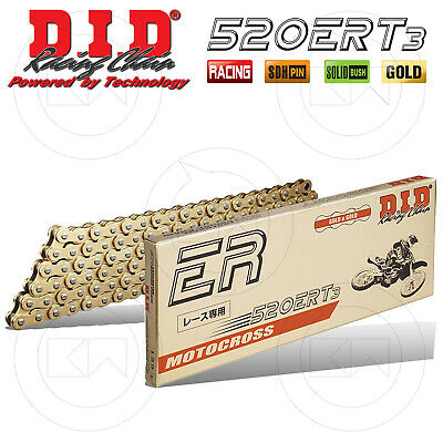 Catena Trasmissione Did 520 Ert3 G&g 120 Maglie Gold Motocross Enduro Off-Road