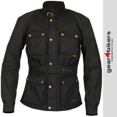 SALE Weise Clifton Motorcycle Jacket Wax Look Classic Retro Cafe Scooter