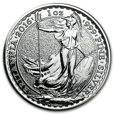 2016 Great Britain 1 oz Silver Britannia BU - SKU #93738