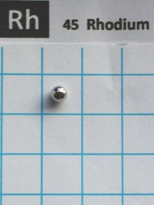 0.24 gram 99.99% solid Rhodium metal pellet element 45 sample