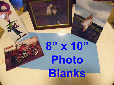 """8"""" X 10""""  Aluminum Sublimation Photography Blanks with protective PVC Flim"""